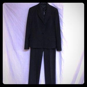 Anne Klein black/dark grey pant suit set